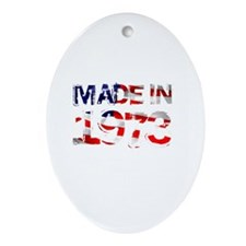 Made In USA 1973 Oval Ornament