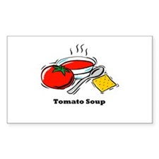 Tomato Soup Rectangle Decal