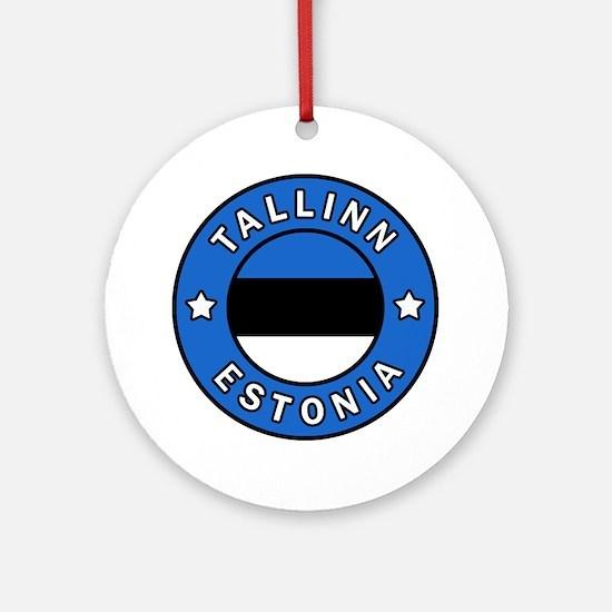 Cute Estonian Round Ornament