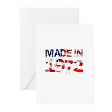 Made In USA 1972 Greeting Cards (Pk of 10)