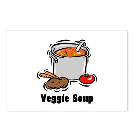 Veggie Soup Postcards (Package of 8)