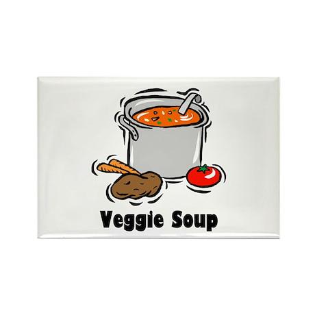 Veggie Soup Rectangle Magnet (10 pack)