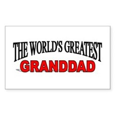 """The World's Greatest Granddad"" Sticker (Rectangul"