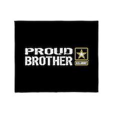 U.S. Army: Proud Brother (Black) Throw Blanket