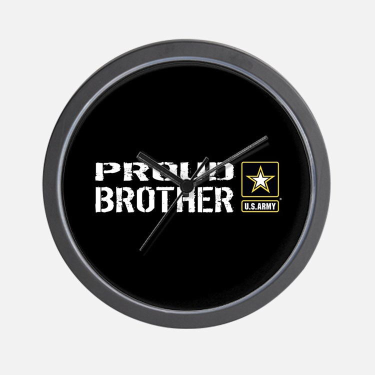 U.S. Army: Proud Brother (Black) Wall Clock