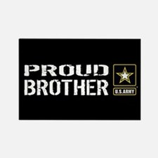 U.S. Army: Proud Brother (Black) Rectangle Magnet