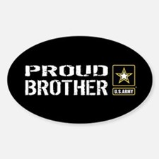 U.S. Army: Proud Brother (Black) Sticker (Oval)