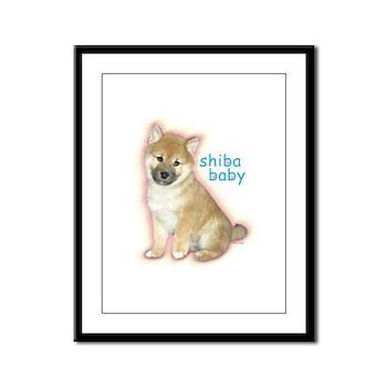 Shiba Baby Framed Panel Print