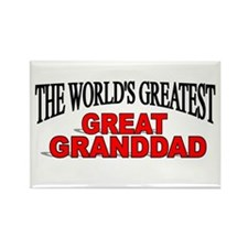 """""""The World's Greatest Great Granddad"""" Rectangle Ma"""