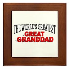 """The World's Greatest Great Granddad"" Framed Tile"