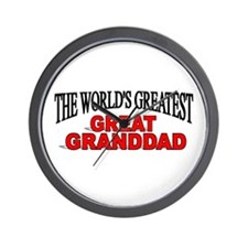 """The World's Greatest Great Granddad"" Wall Clock"