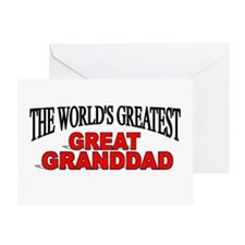 """""""The World's Greatest Great Granddad"""" Greeting Car"""