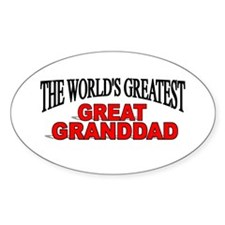 """""""The World's Greatest Great Granddad"""" Decal"""