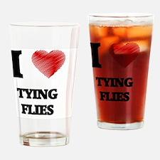 I love Tying Flies Drinking Glass