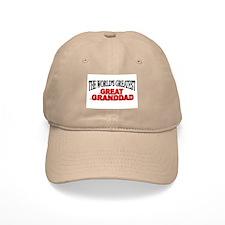 """The World's Greatest Great Granddad"" Baseball Cap"
