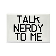 Talk Nerdy Rectangle Magnet
