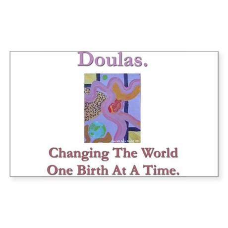 Doulas Change The World Rectangle Sticker