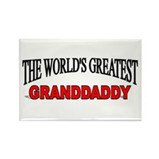 """""""The World's Greatest Granddaddy"""" Rectangle Magnet"""