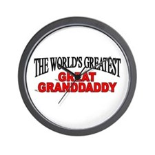 """The World's Greatest Great Granddaddy"" Wall Clock"