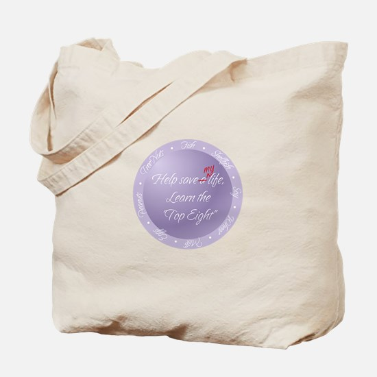 """Top Eight"" Awareness Tote Bag"