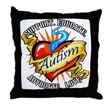 Autism Classic Tattoo Throw Pillow