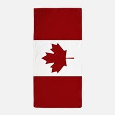 Canada: Canadian Flag (Red & White) Beach Towel