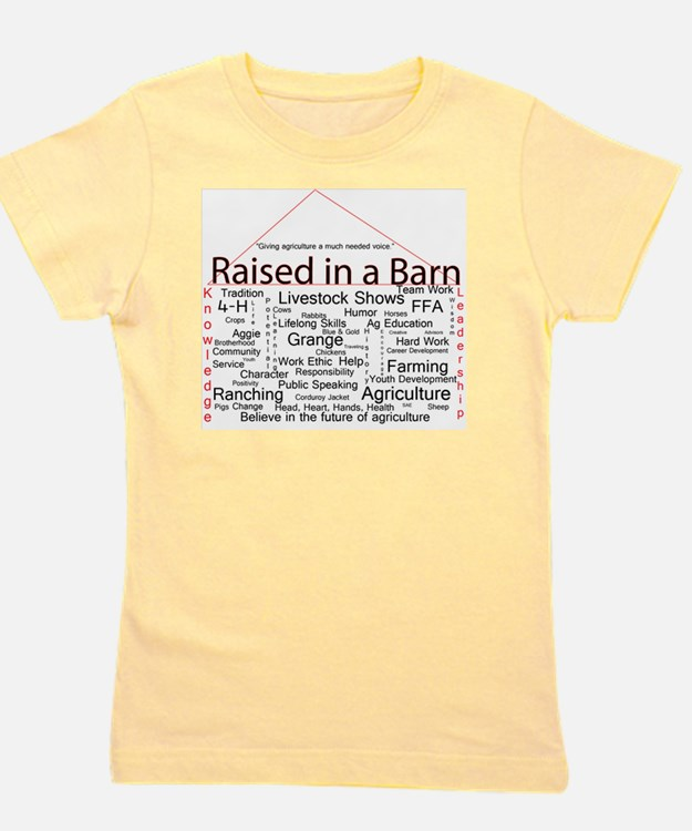 Cute Agriculture Girl's Tee
