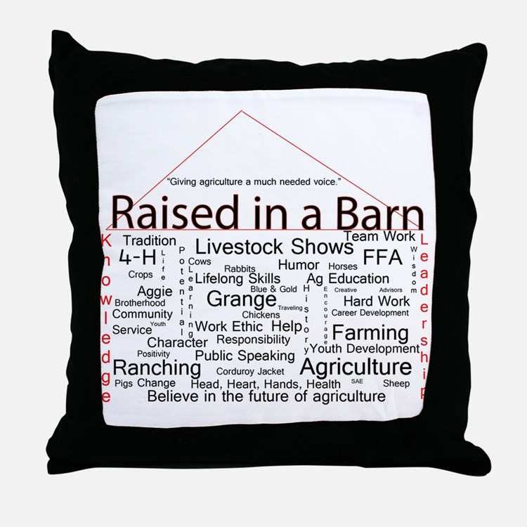 Cute Agriculture Throw Pillow