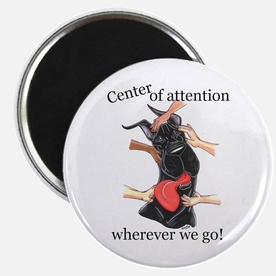 CBlk CenterOfAttention Great Dane Magnet