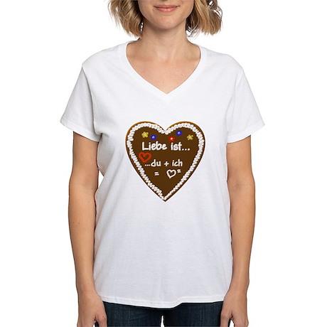 Liebe ist... 6 Women's V-Neck T-Shirt