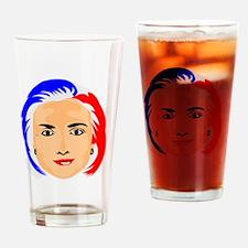 Hillary Clinton Drinking Glass