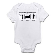 Eat Sleep Army - Support Grnddtr Infant Bodysuit