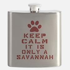 Keep Calm It Is Savannah Flask