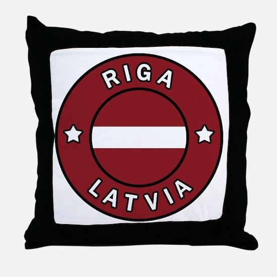 Cute Latvia Throw Pillow