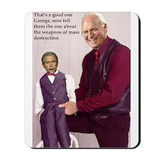 Anti Bush Ventriloquist Mousepad