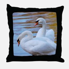 Beautiful Swans Throw Pillow
