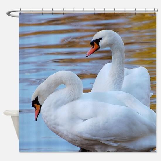 Beautiful Swans Shower Curtain