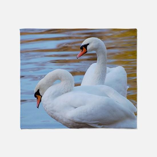 Beautiful Swans Throw Blanket