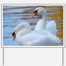 Beautiful Swans Yard Sign