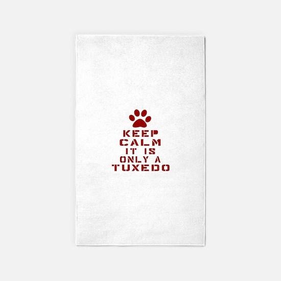 Keep Calm It Is Tuxedo Cat Area Rug