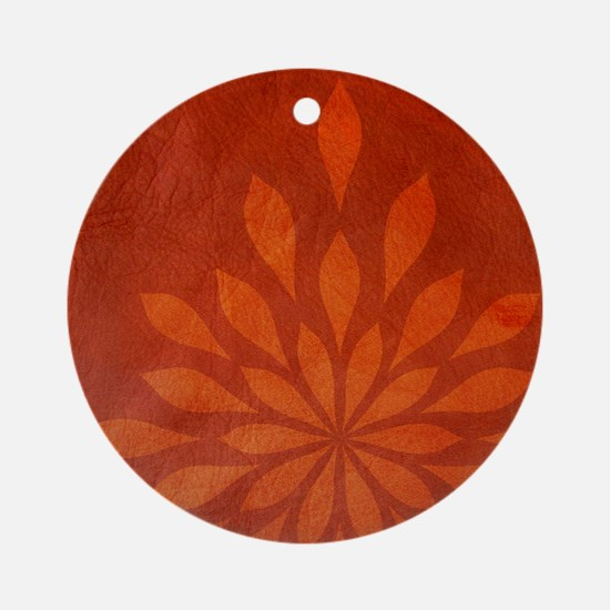 Flame Round Ornament