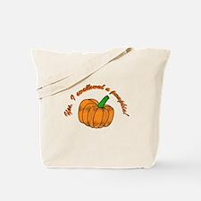 swallowed a pumpkin Tote Bag