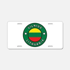 Vilnius Lithuania Aluminum License Plate