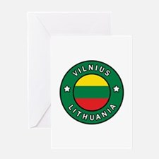 Vilnius Lithuania Greeting Cards
