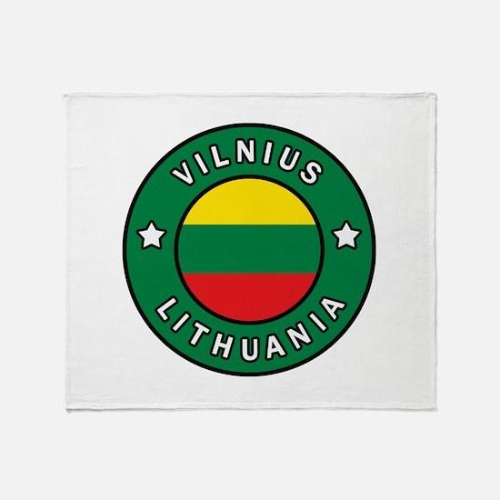 Vilnius Lithuania Throw Blanket