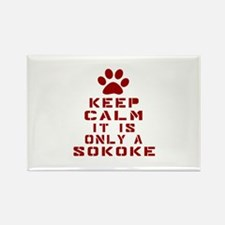 Keep Calm It Is Sokoke Cat Rectangle Magnet