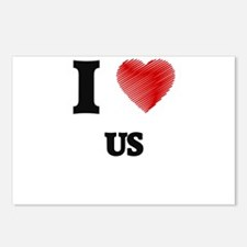 I love Us Postcards (Package of 8)