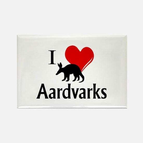 I Heart Aardvarks Magnets