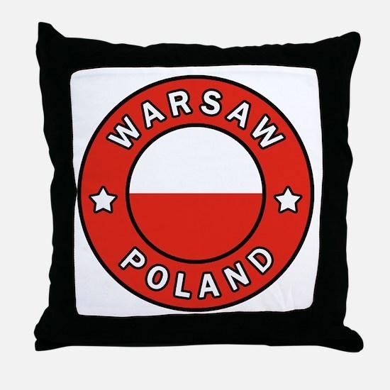Cute Warszawa Throw Pillow
