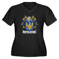 Dunn Coat of Arms Women's Plus Size V-Neck Dark T-